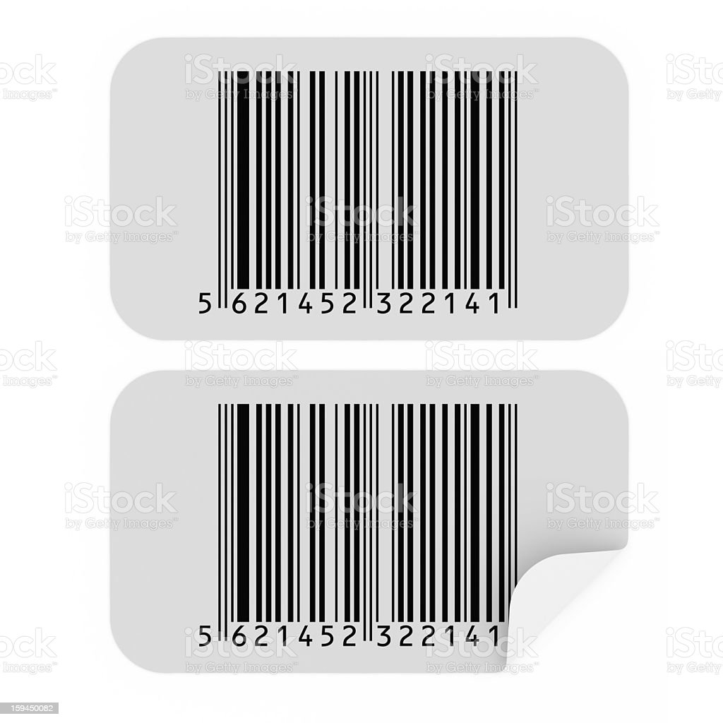 Bar Code Stickers stock photo