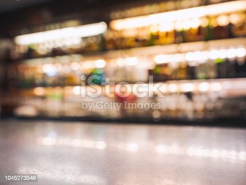 1013514594 istock photo Bar Counter Blur shelf Bottle wine drink Party Background 1045273546