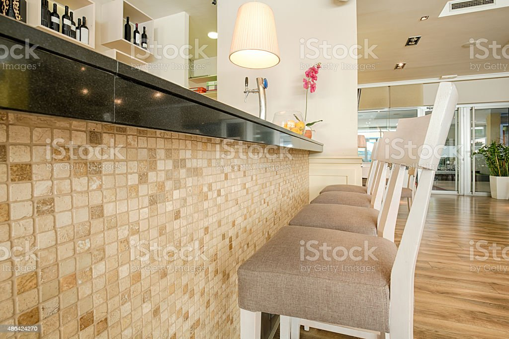 Bar Counter In Modern Cafe Stock Photo Download Image Now Istock