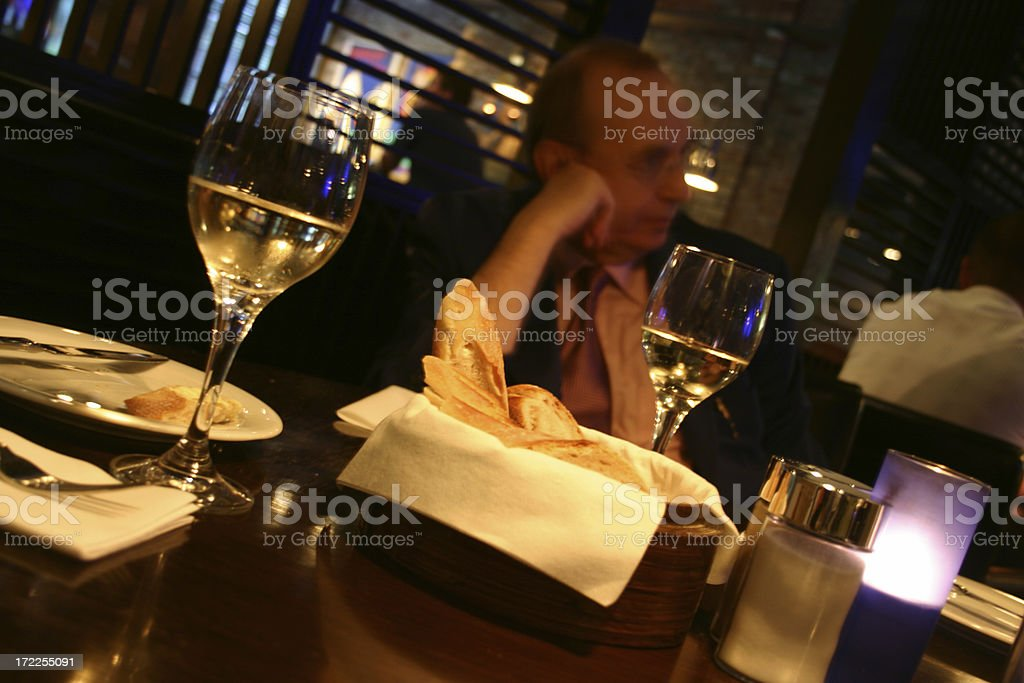 bar dining -- executive waiting for the main course royalty-free stock photo
