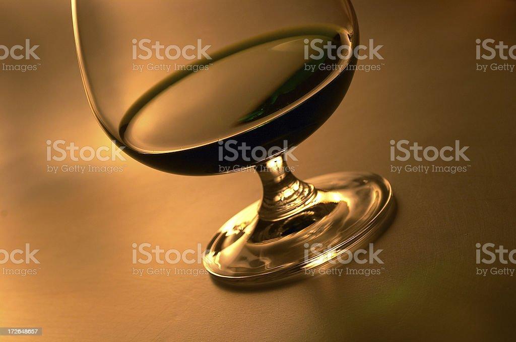 Bar - Elegant Brandy Glass royalty-free stock photo