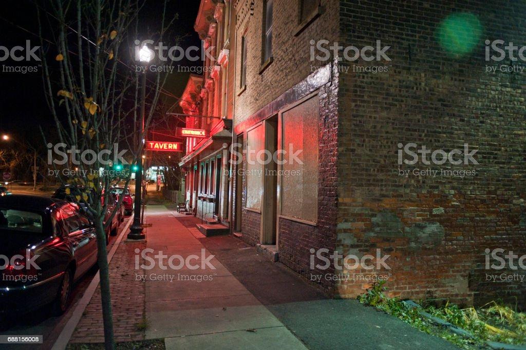 Bar Entrance stock photo