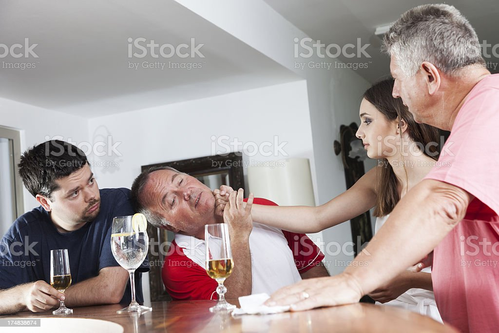 Bar fight royalty-free stock photo