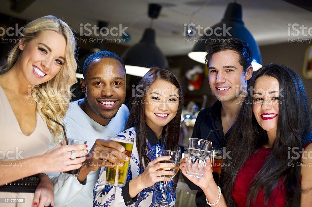 bar friends royalty-free stock photo