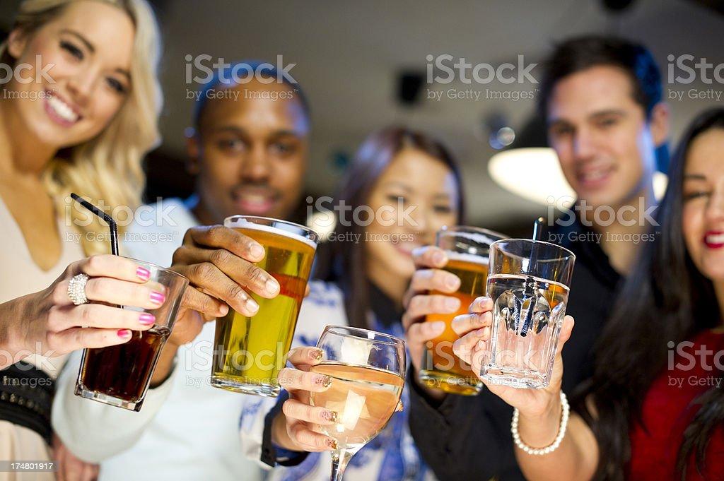 bar friends stock photo