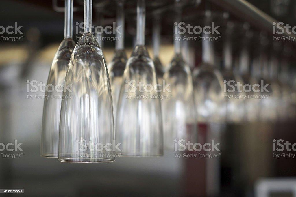 Bar Glasses close up royalty-free stock photo