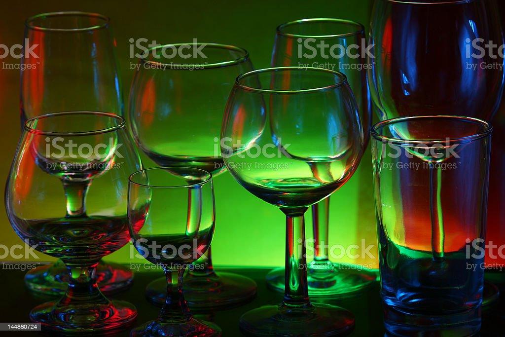Bar Glasses royalty-free stock photo