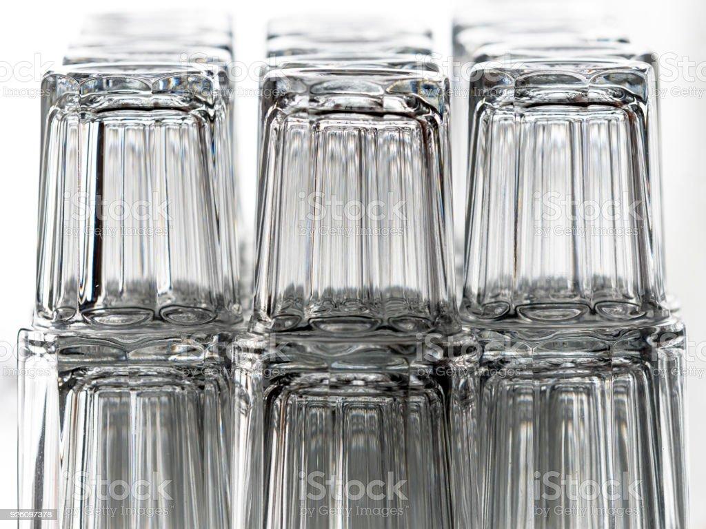 Bar Glasses Stacked White Background stock photo