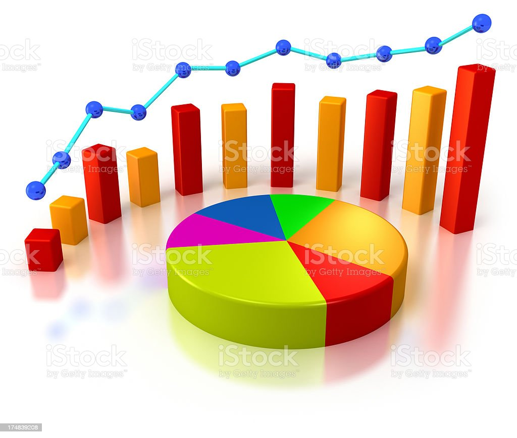 3d bar graph and colorful pie chart stock photo more pictures of 3d bar graph and colorful pie chart royalty free stock photo nvjuhfo Choice Image