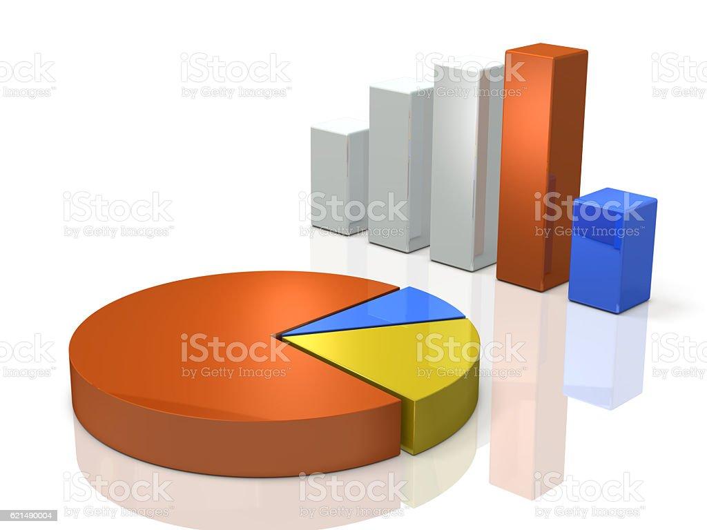 Bar graph and pie chart. Background image. Lizenzfreies stock-foto
