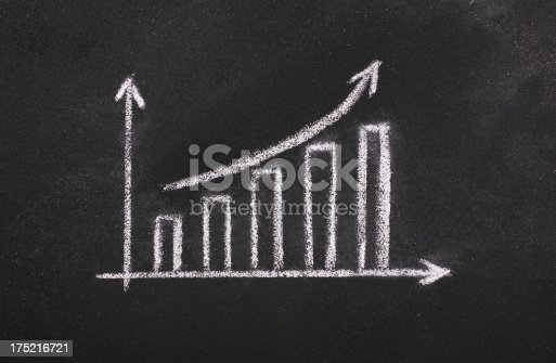 istock Bar graph on blackboard 175216721