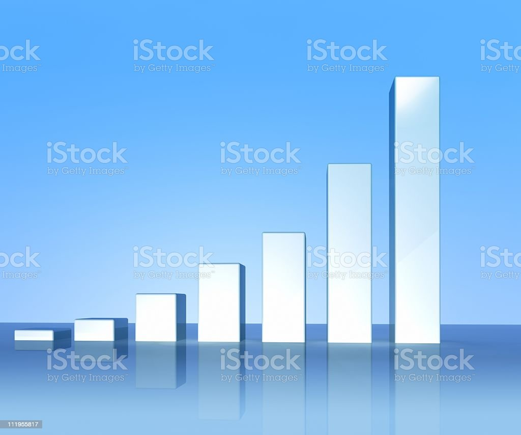Bar graph stock photo
