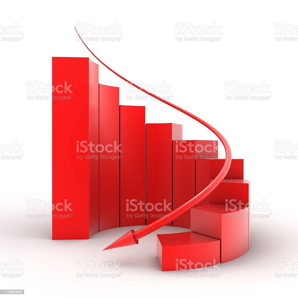 bar graph (decrease) royalty-free stock photo