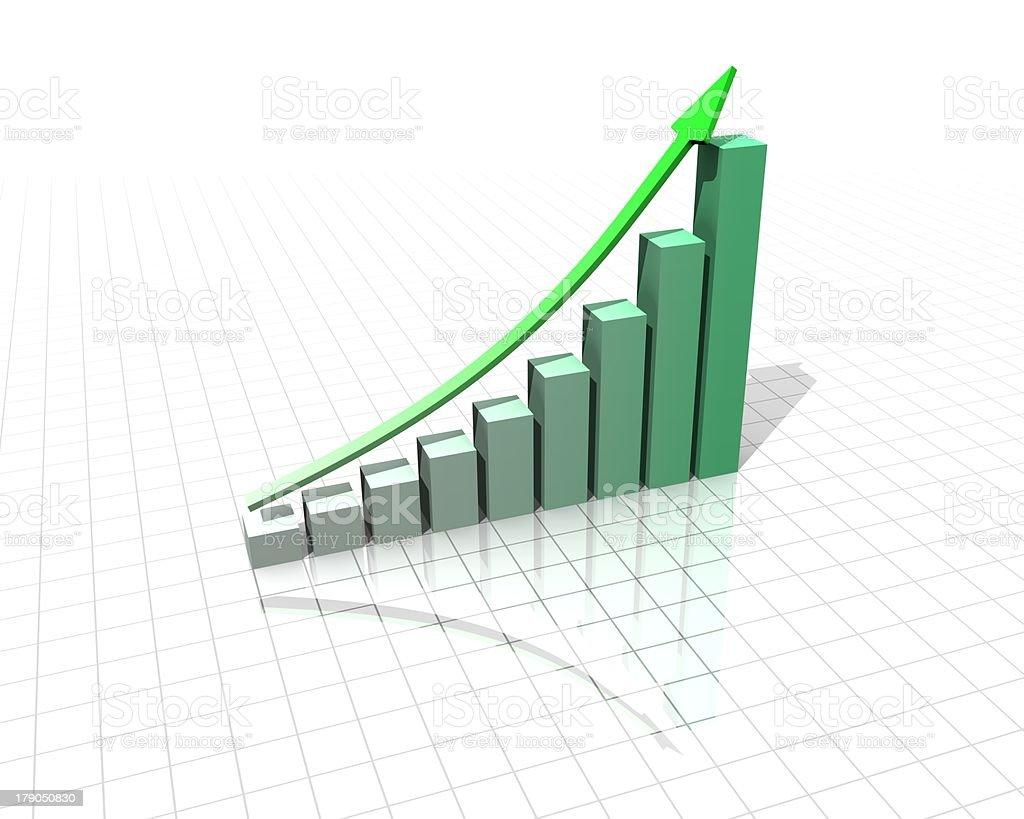 Bar Graph. stock photo