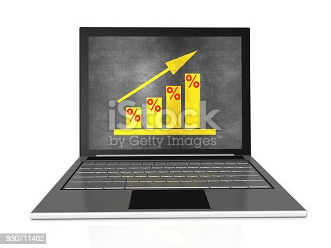 527033580istockphoto Bar Graph with Chalk on Laptop 930711402