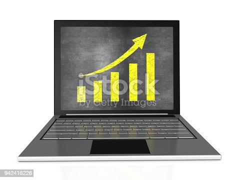 527033580istockphoto Bar Graph with Chalk on Laptop 942416226
