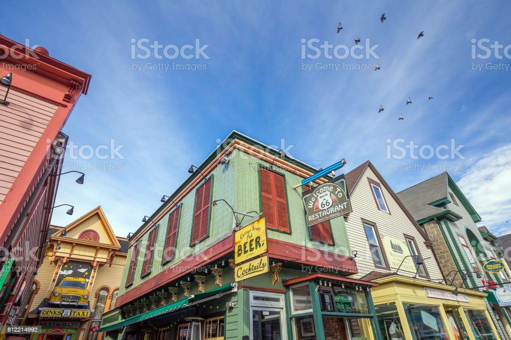 Bar Harbor in Maine stock photo