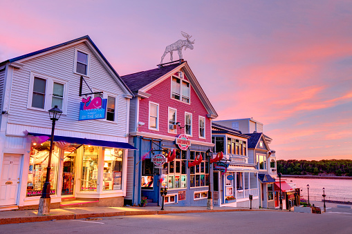 Bar Harbor is a popular tourist destination in the Down East region of Maine
