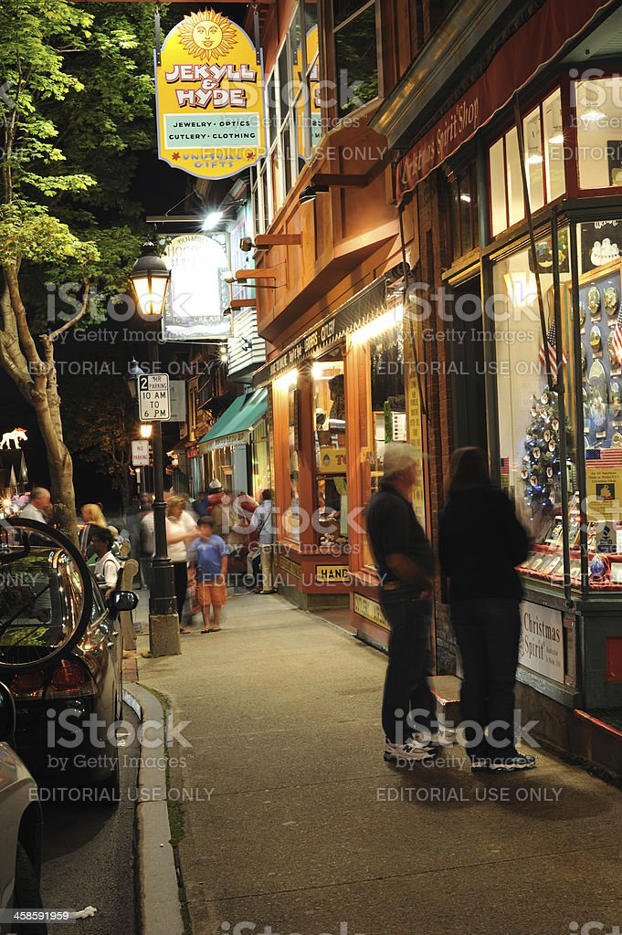 Bar Harbor Night royalty-free stock photo