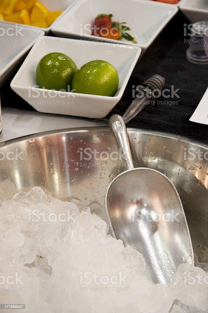Bar ice scoop royalty-free stock photo