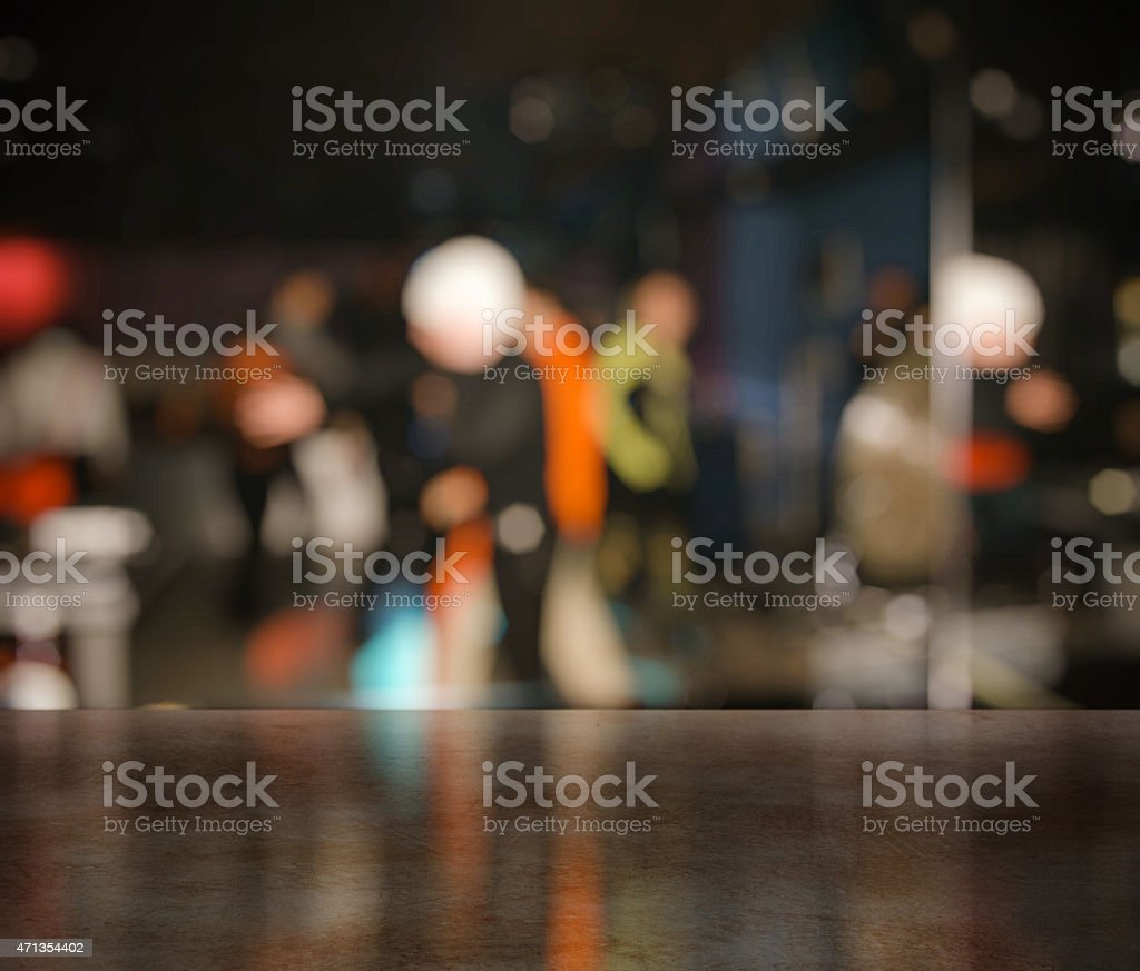 bar in a night club stock photo