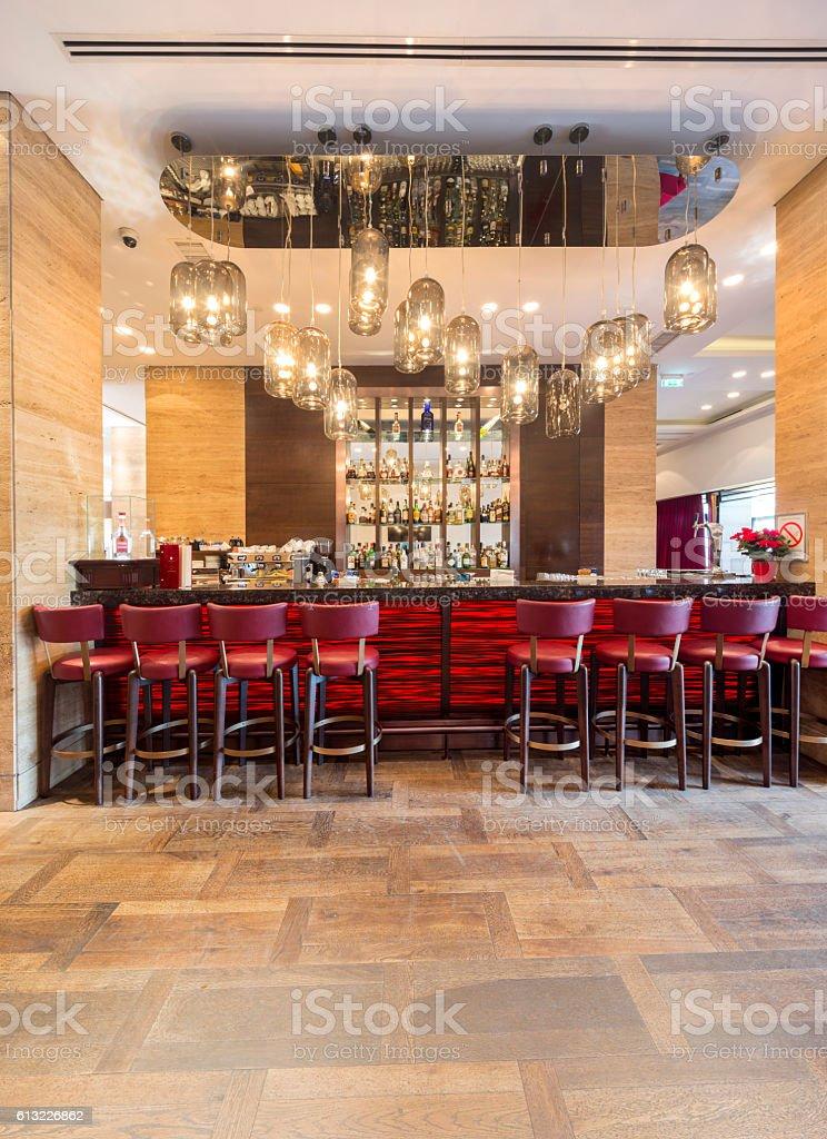 bar in hotel lobby interior – Foto