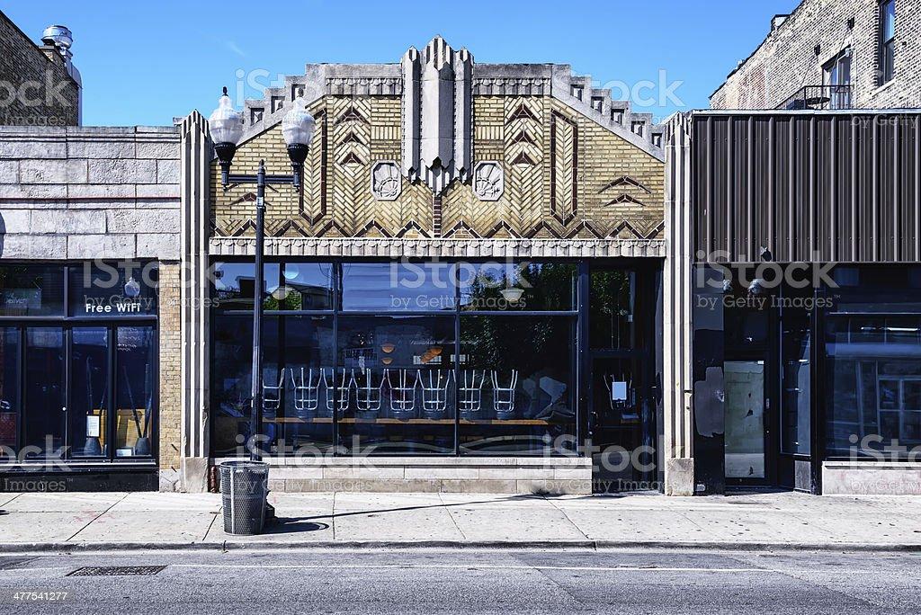 Bar in ornate Art Deco building, Chicago stock photo
