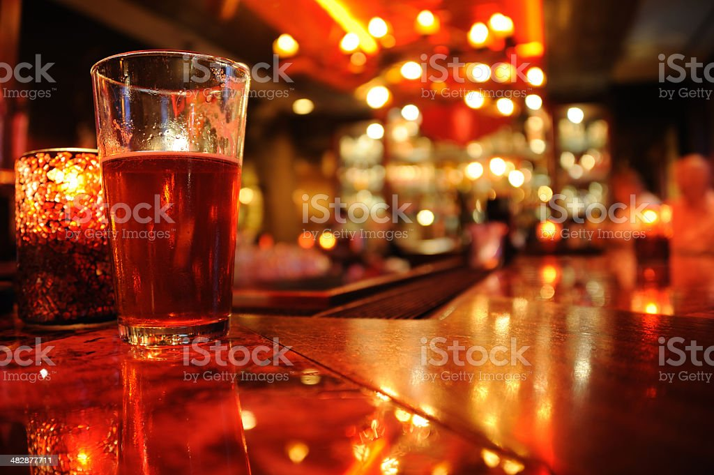 Bar in Red stock photo
