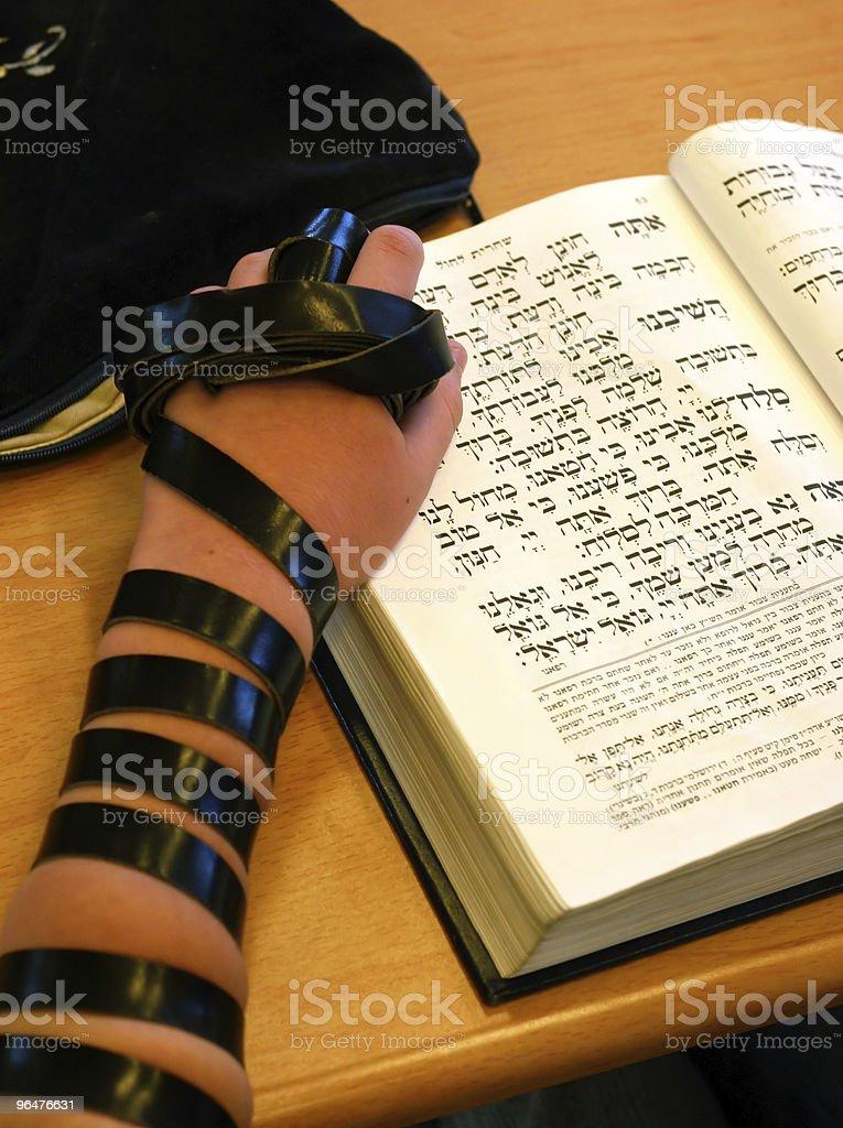 Bar mitzvah ceremony royalty-free stock photo