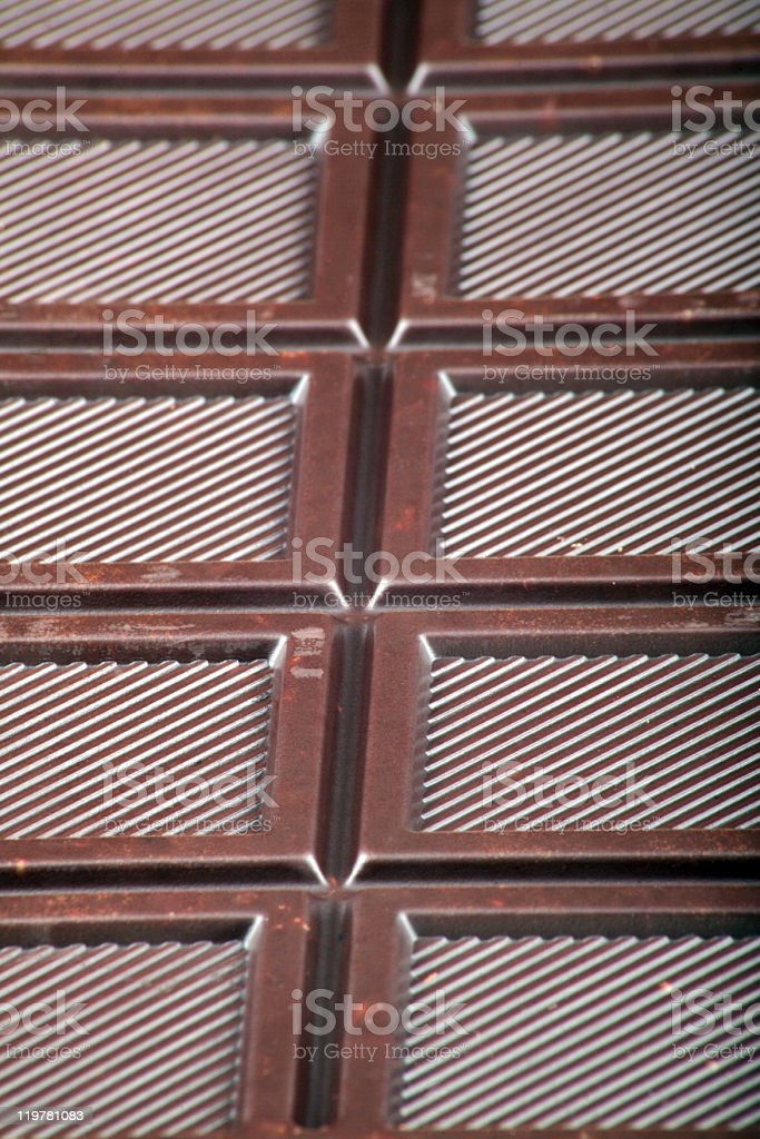 bar of  brown chocolate royalty-free stock photo