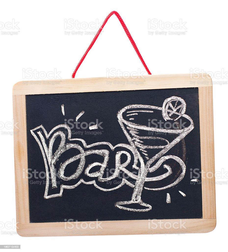 Bar on blackboard royalty-free stock photo