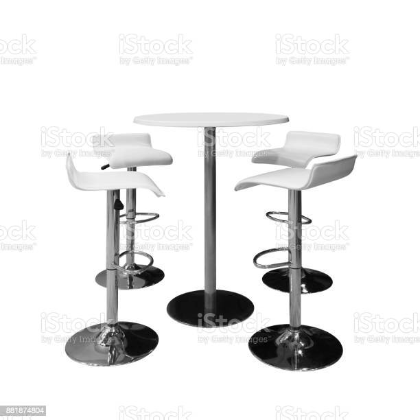 Bar or office chairs and round table isolated on white background picture id881874804?b=1&k=6&m=881874804&s=612x612&h= hglwyhxfrflao1ac5h8pncpnka8orkk1sjin7dygos=