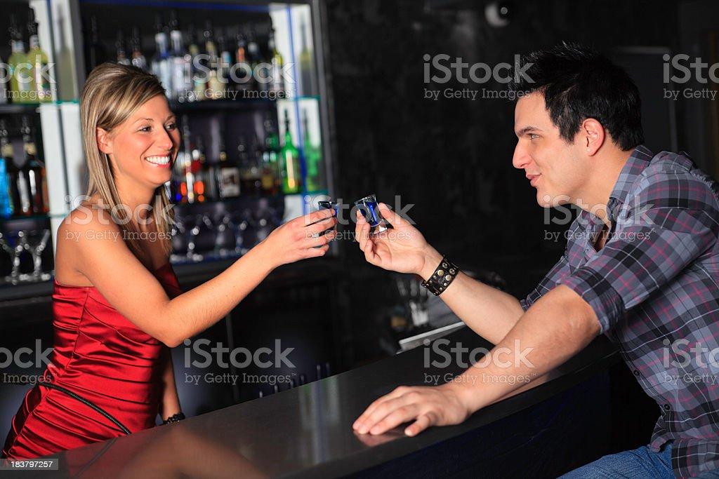 Bar Photo Shoot - Happy Toast royalty-free stock photo