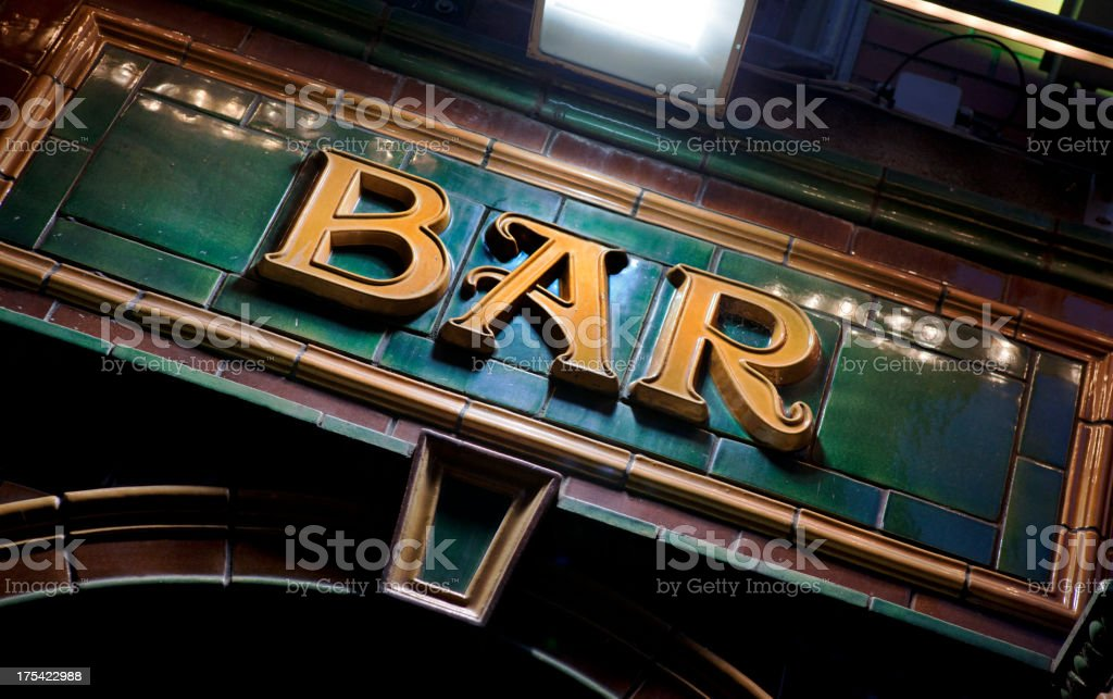 Bar Sign in Ireland stock photo