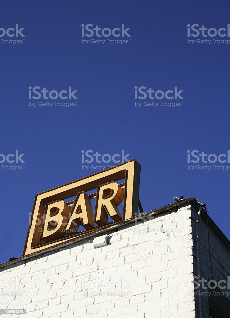 Bar Sign royalty-free stock photo