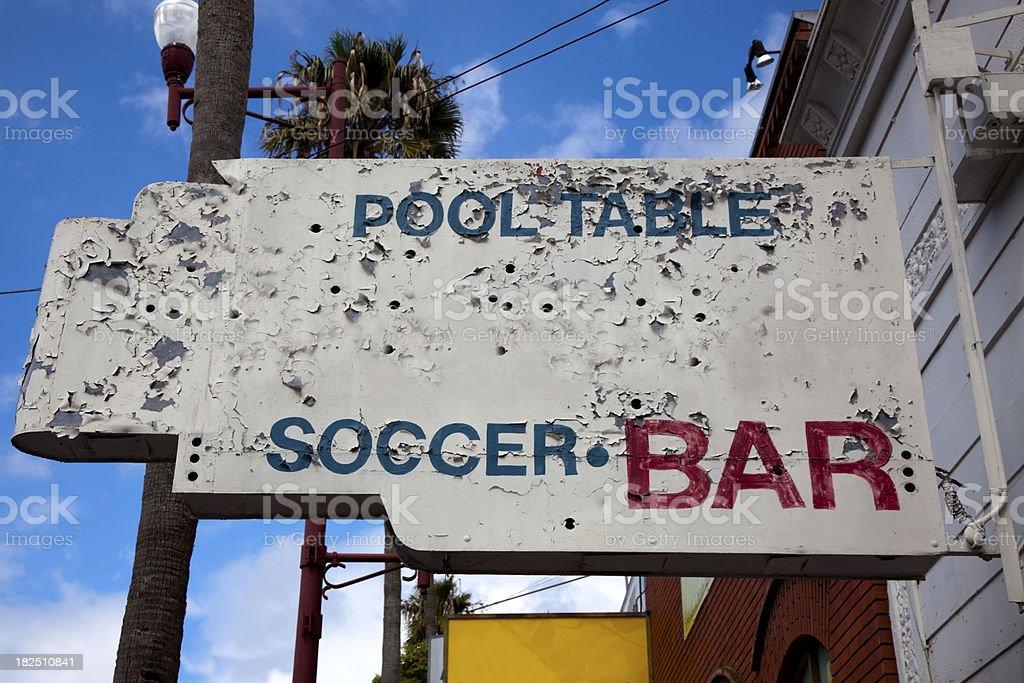 Bar Sign stock photo
