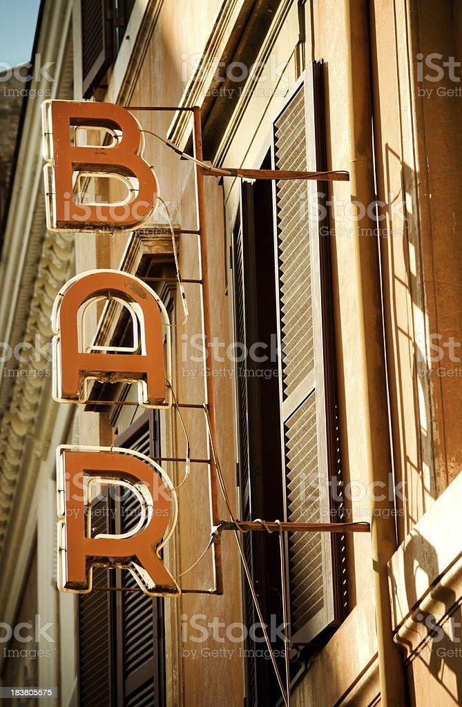 Bar Sign royalty-free stock photo