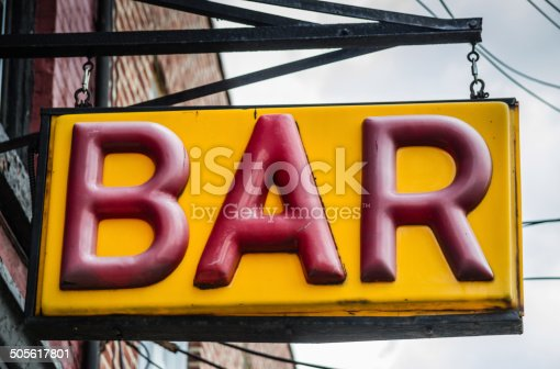 istock Bar Sign 505617801