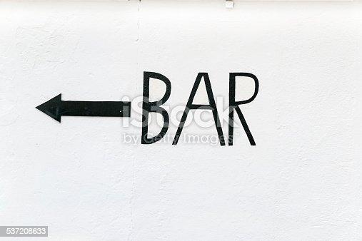 521911567 istock photo Bar sign 537208633