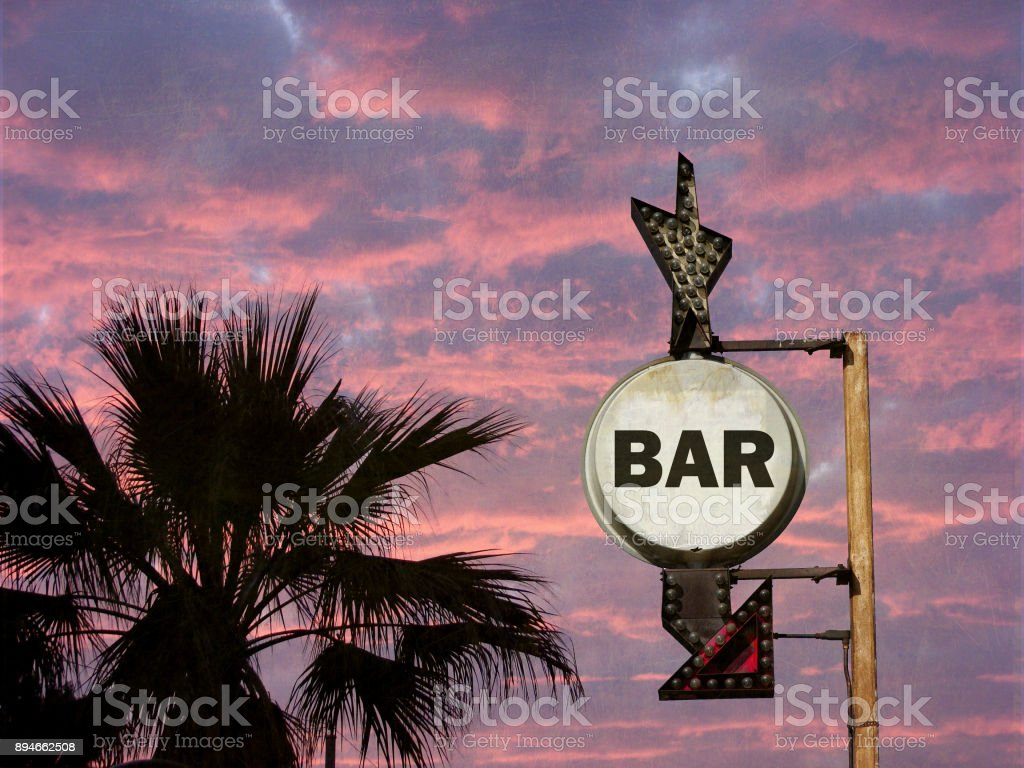 bar sign stock photo