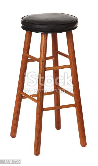 Bar stool isolated on a white background.