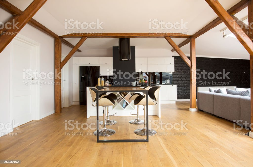 Bar stools and table - Royalty-free Alcohol Stock Photo