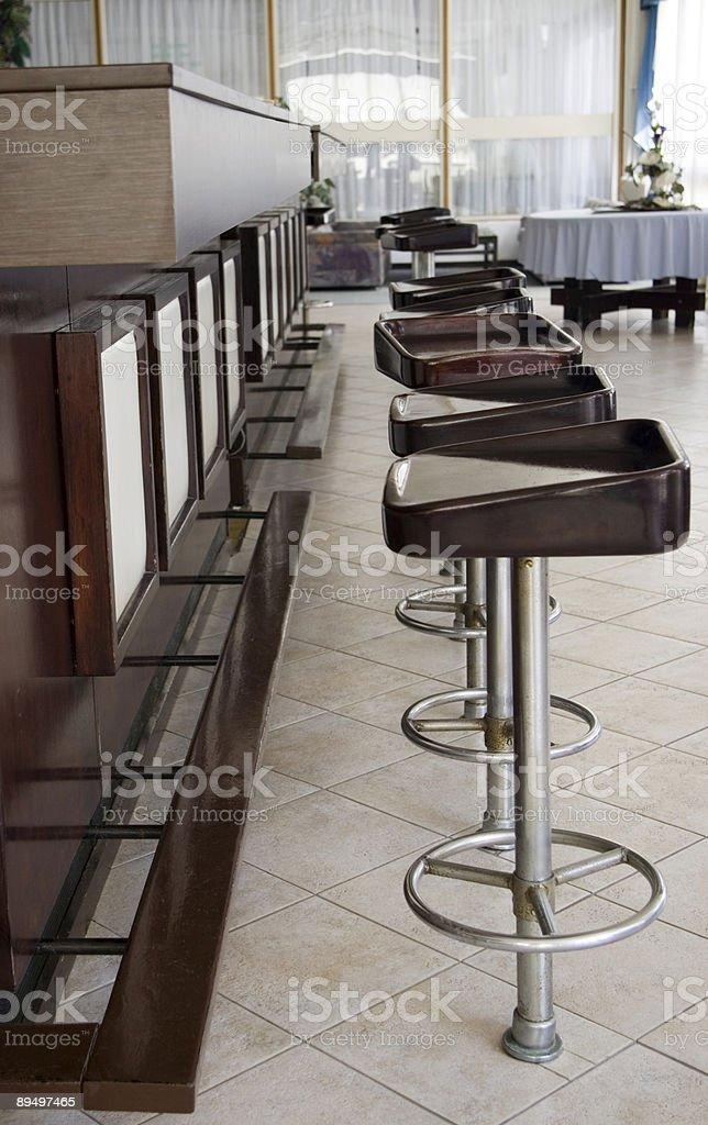 Bar stools royaltyfri bildbanksbilder