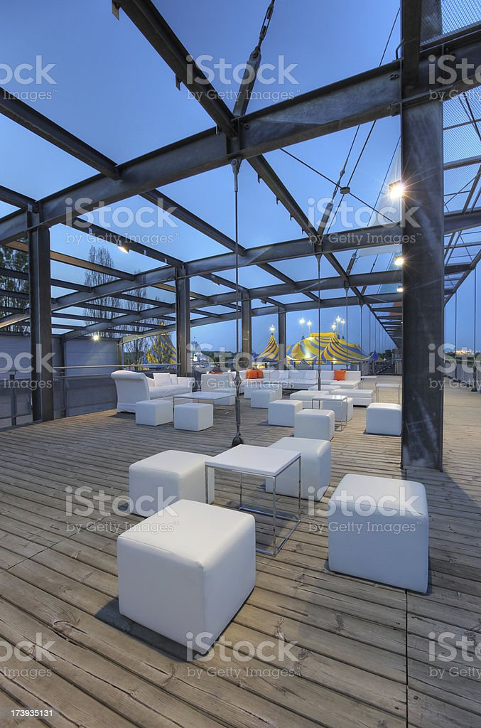 Bar Terrace in The Old Montreal royalty-free stock photo