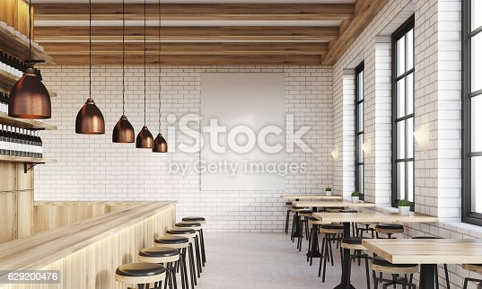 istock Bar with poster and lamps 629200476