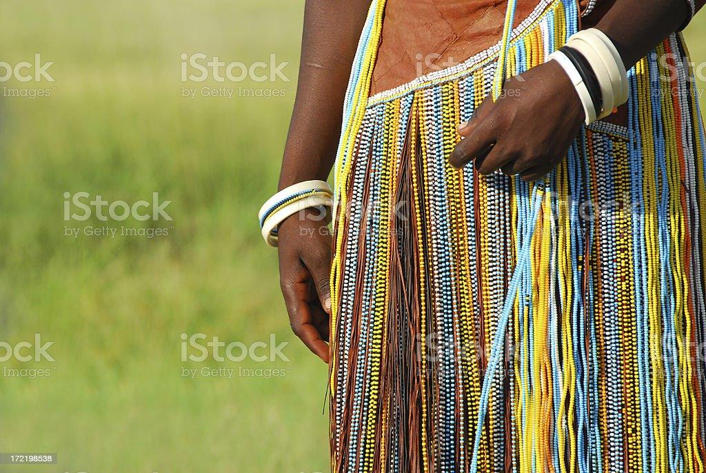 Barabaig Beaded Dress, Lake Manyara, Tanzania stock photo