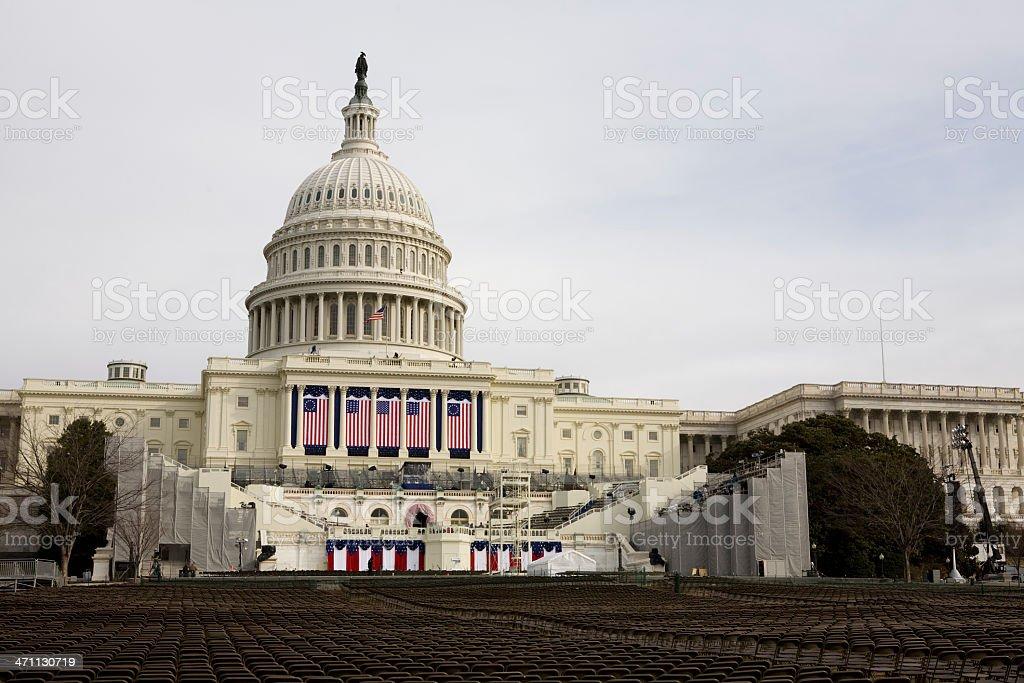 Barack Obamas Inauguration, Washington DC Capitol Building stock photo