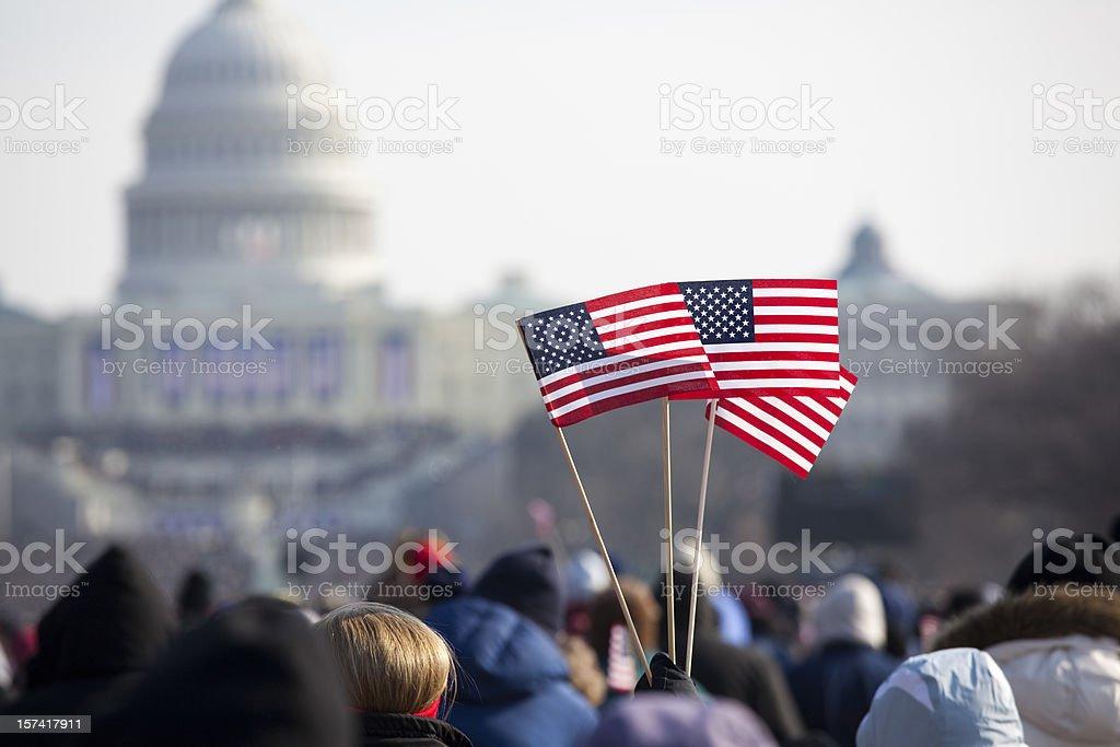 Barack Obama's Presidential Inauguration at Capitol Building, Washington DC stock photo
