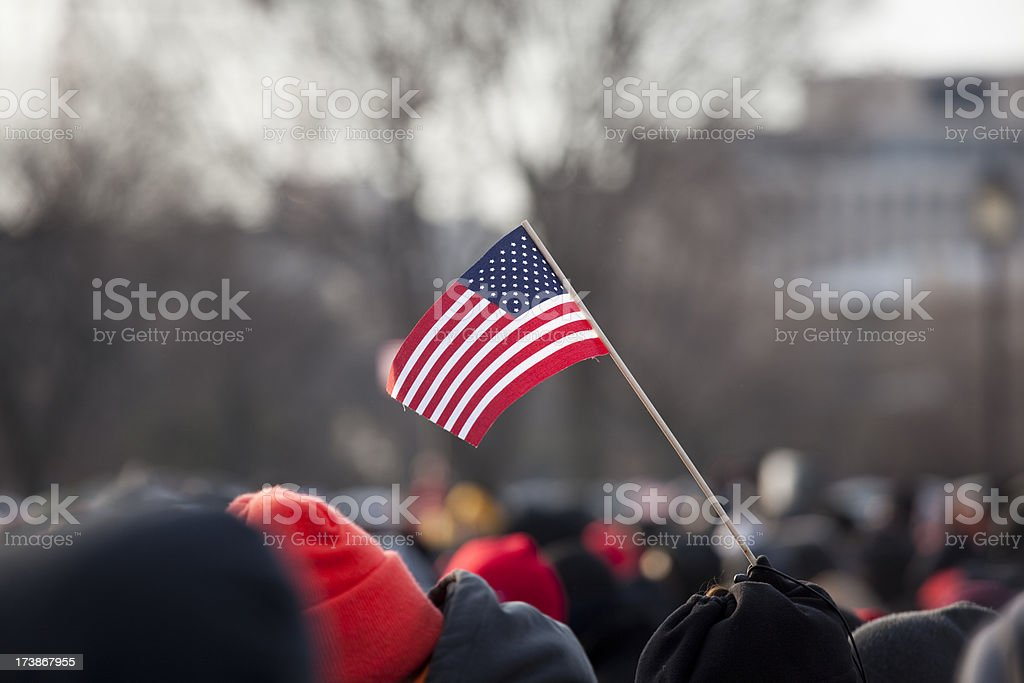 Barack Obama's Presidential Inauguration at Capitol Building, Washington DC stock photo