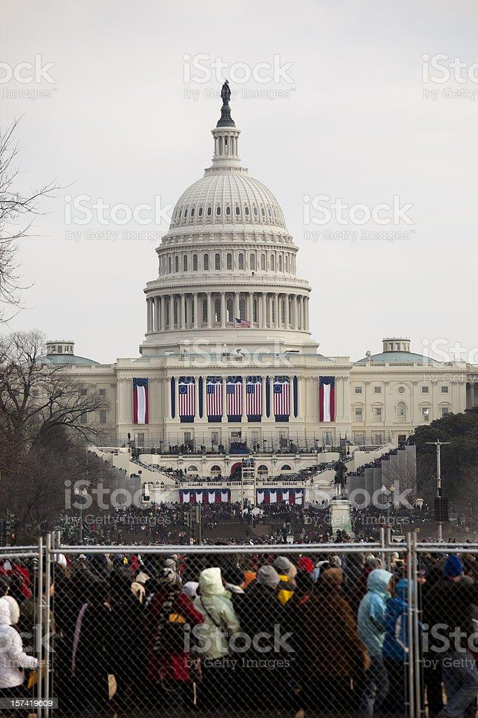 Barack Obama's Presidential Inauguration at the Capitol Building, Washington DC stock photo